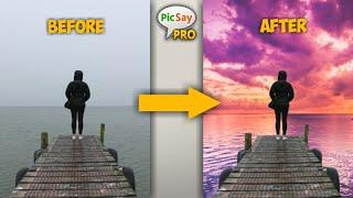 Cara Edit Warna Air dan Laut di Android | Picsay Pro