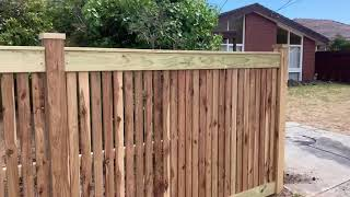 Hampton Style Picket Fence And Sliding Gate