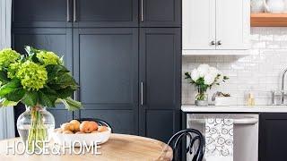 Small Kitchen Makeover: Black & White Two-Tone Cabinets