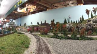 HO Scale Amtrak Train At The Blissfield Model Railroad Club - hmong