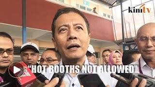 EC chief to instruct closure of 'hot booths'