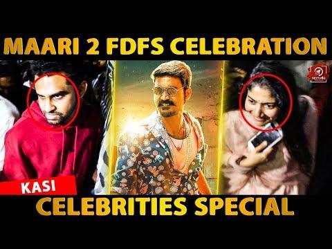 Maari 2 FDFS Celebration At Kasi Th..
