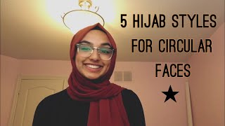 5 Simple Hijab Tutorials   Girls With Round Faces  