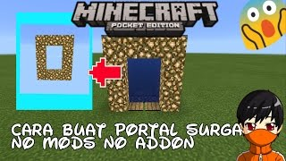 Cara Buat Portal Ke Surga 100% No Mods Di MinecraftPE