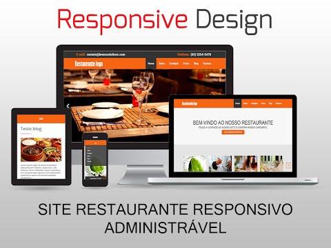 Site Restaurante Responsivo Administrável