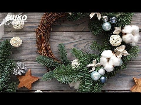 Цветочный дизайн. Стабилизированные растения. Изготовление рождественского венка.