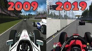 Graphical Evolution Of Codemasters' F1 (2009 2019)