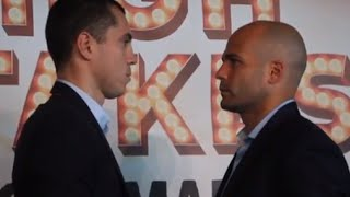 SCOTT QUIGG v KIKO MARTINEZ - HEAD TO HEAD @ PRESS CONFERENCE / HIGH STAKES / JULY 18 (MANCHESTER)