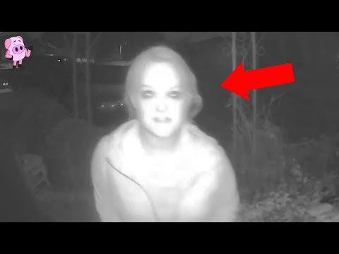 Enge beelden gevangen door Deurbel-beveiligingscamera's