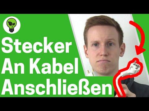 Stecker an Kabel anschließen ✅ TOP ANLEITUNG: Schuko & Stromstecker montieren - Kupplung wechseln!!!