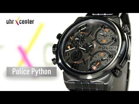 Police P13595JSB-61M Python Herrenuhr mit 4 Zeitanzeigen