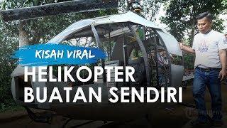 Pria Lulusan SMK di Sukabumi Rakit Helikopter di Halaman Rumahnya