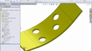 SolidWorks Sheet Metal - How to create the axis of a bent hole