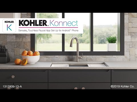 Sensate Touchless Faucet with KOHLER Konnect – App Set-Up for Android Phone