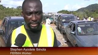 Blockage Along Okene Highway In Kogi State