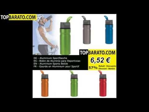 Aluminium Sportflasche - Bidón de Aluminio - Aluminium Sports Bottle - Gourde en Aluminium