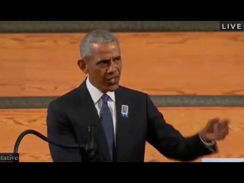 Obama takes EPIC swipe against Trump during John Lewis eulogy, gets HUGE ovation