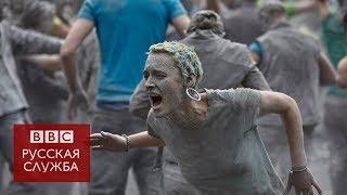 Нашествие зомби: перформанс в Гамбурге перед саммитом G20
