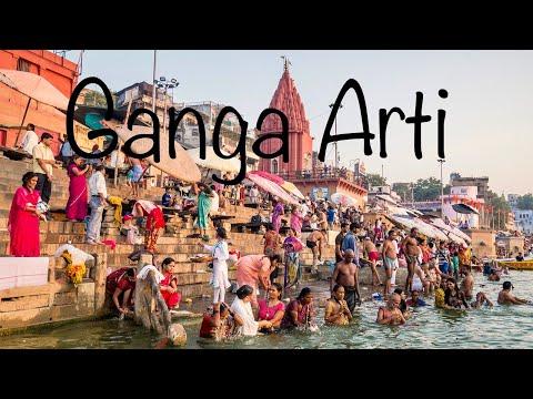 GANGA ARTI VARANASI | Holy River Ganges Hindu Worship Ritual  | BANARAS GHAT AARTI