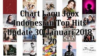 Gambar cover Chart Lagu Joox Indonesian Top Hits Update 30 Januari 2018 1-20