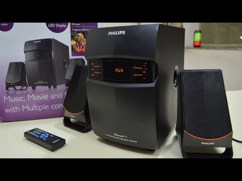 Philips 2.1 Speakers MMS 2550f/94 UNBOXING & REVIEW