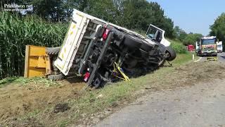 Prevrnjeno tovorno vozilo v Ljutomeru