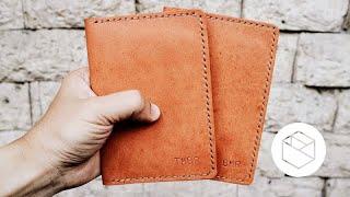 Making A Handmade Leather Passport Wallet