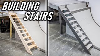 Building A Simple Staircase For The Garage Loft