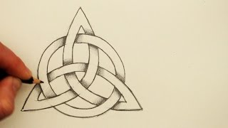 How To Draw A Celtic Knot: The Triquetra With A Circle
