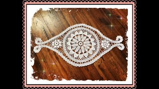 How To Crochet Long Oval Doily Part 1 Of 2