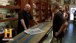 Pawn Stars: ONE-OF-A-KIND SURF BOARD IS VERY EXPENSIVE (Season 12) | History