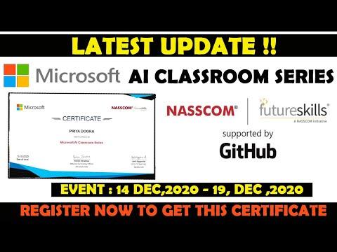 Microsoft AI Certification - Get FREE NASSCOM Certified Artificial ...