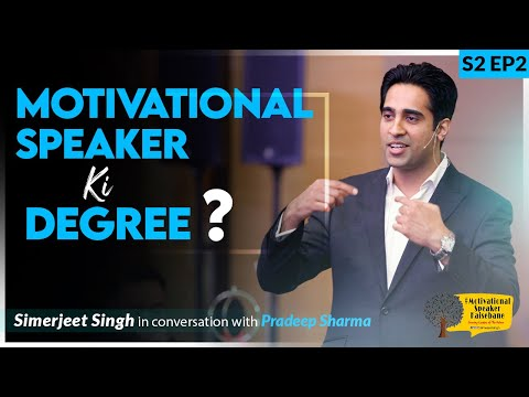 Simerjeet Singh on How to become a Motivational Speaker? | Hindi ...