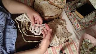 Playing With Pretties And Antique Lace Appliques