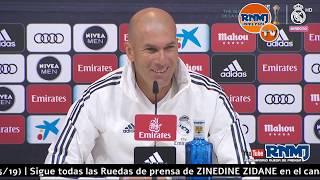 Rueda De Prensa De ZIDANE Previa Real Madrid - Betis Jornada 38 (18/05/19)