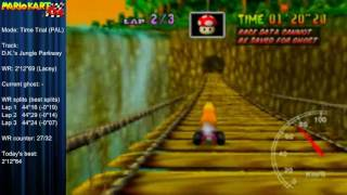 """MK64 - former world record on D.K.'s Jungle Parkway - 2'12""""67 (NTSC: 1'50""""34)"""