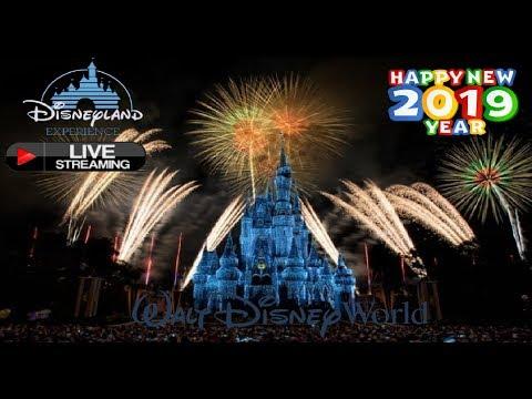 🔴LIVE New Years Eve Fireworks Walt Disney World 2019   Live Stream Magic Kingdom Fantasy In The Sky