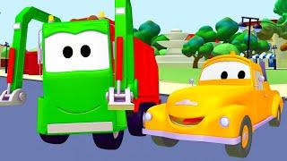 Odtahové auto pro děti - Popelářské auto Odtahové auto Tom ve Městě Aut