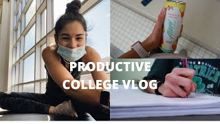 college day in my life: declaring a minor, in-person class, homework