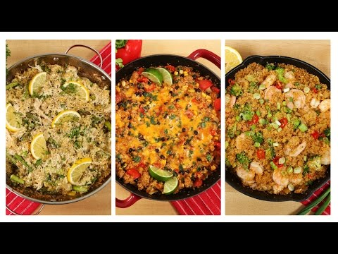 Video 3 Healthy One Skillet Quinoa Recipes | Dinner Made Easy