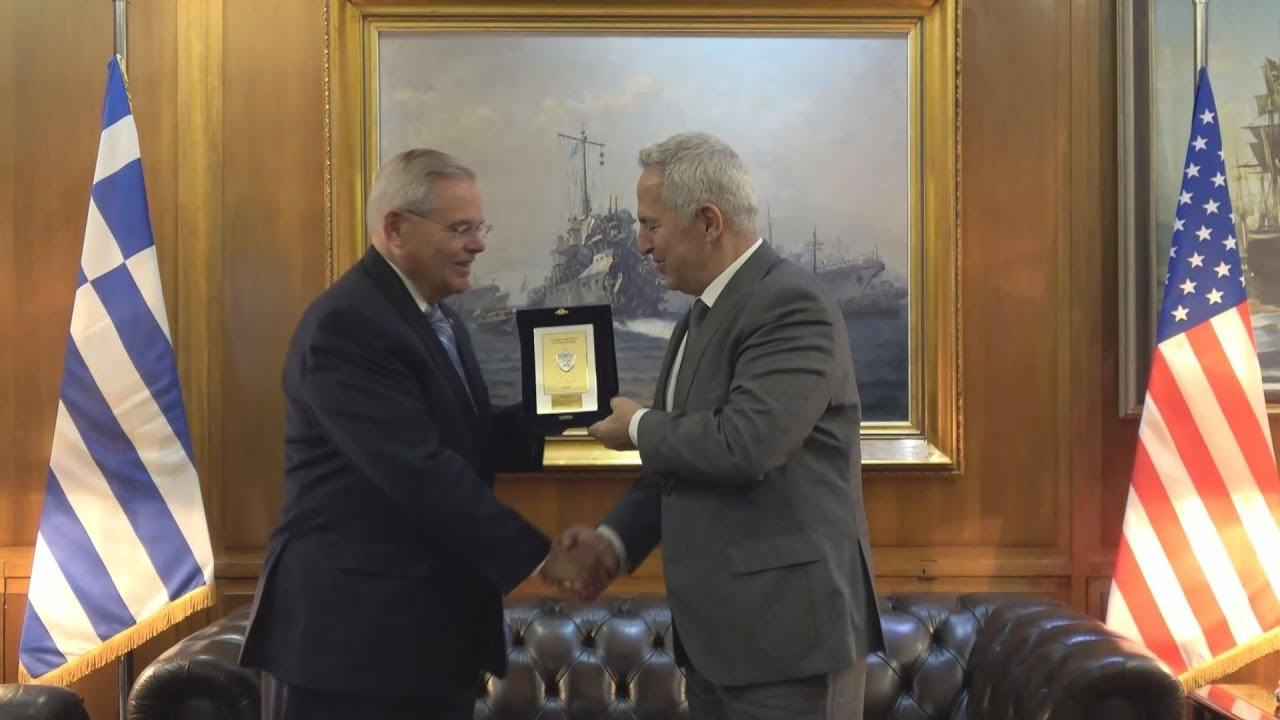 Συνάντηση ΥΕΘΑ Ευάγγελου Αποστολάκη με τον Γερουσιαστή ΗΠΑ Bob Menendez