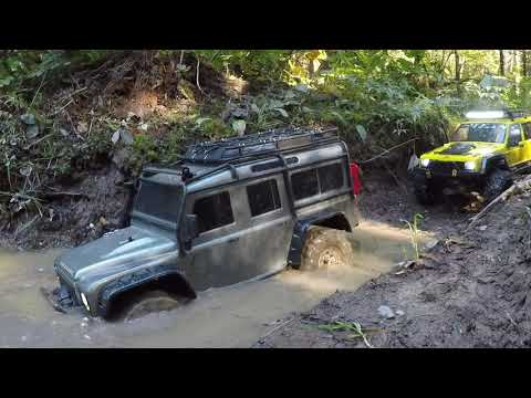 VATERRA ASCENDER K5 and TRAXXAS TRX4 with a lot of MUD