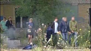 Школьники избили и сожгли мужчину и женщину