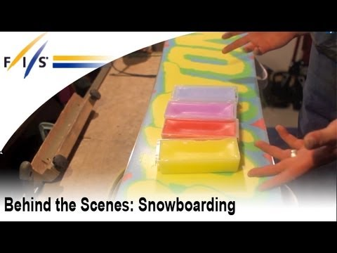 FIS Snowboarding waxer gives professional waxing tips in this behind the scenes video