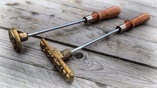 Branding Iron With Brass Casting