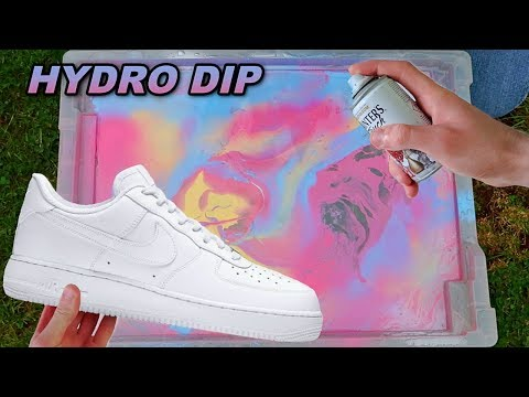 HYDRO Dipping AIR Force 1's!