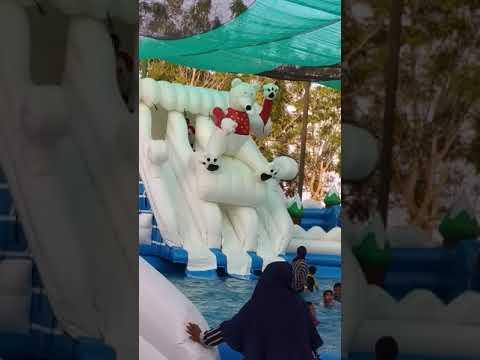 clara afiqah ramadhani berenang waterpark