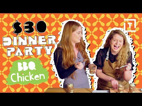 Healthy BBQ Chicken and Collard Greens || $30 Dinner Party