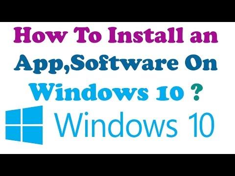 [Hindi] How To Install An App,Software On Windows 10 ?  हिंदी में  विंडोज 10 ट्यूटोरियल ?
