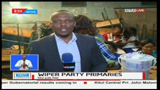 Vote counting for Wiper Party primaries in Kitui is ongoing